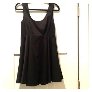 Black Free People Party Dress With Deep V Back